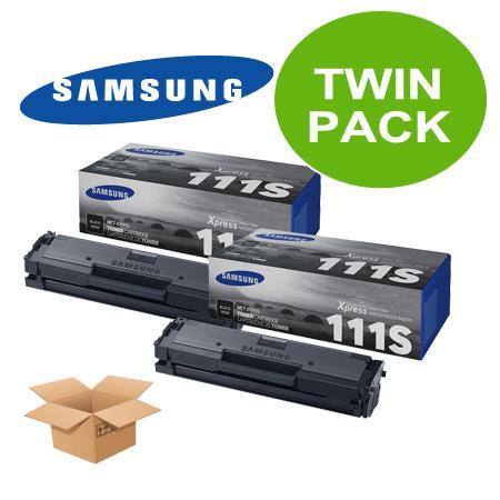 TwinPack: Samsung MLT-D111S Black Original Toner Cartridge