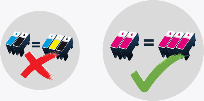 Order 2 of the same select Epson, Brother, or Canon replacement ink cartridges and we will send you a third one completely FREE of charge